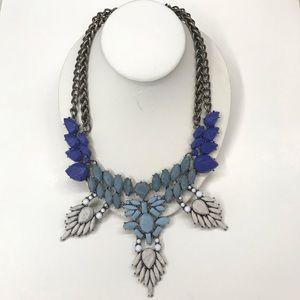BaubleBar Statement Necklace Faux Blue Marble